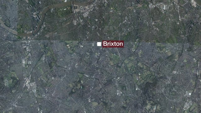 Map showing Brixton