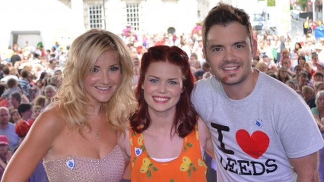 Helen Skelton, Lindsey Russell and Barney Harwood