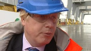 Boris Johnson at London Gateway