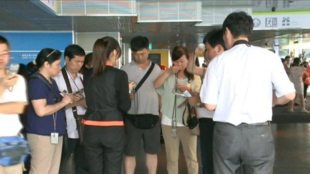 Tourists in Taiwan