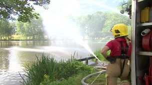 The fire service have supplied three pumps