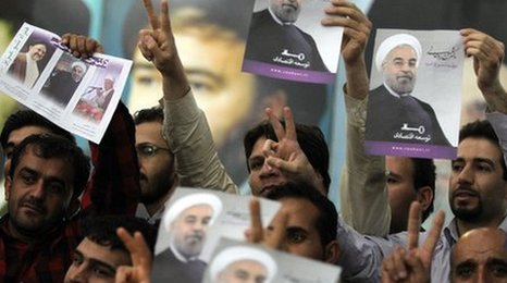 Rouhani got more than 50% of the votes avoiding a second round
