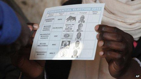 A presidential ballot - Zimbabwe 31 July 2013