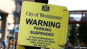 City of Westminster parking sign