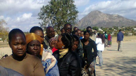 Voters in Mutare South, Zimbabwe