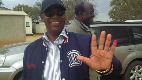 Welsh Ncube after voting in Bulawayo