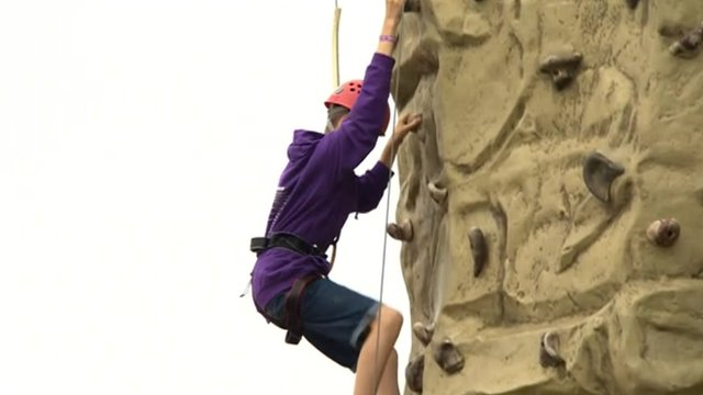 Scout climbing