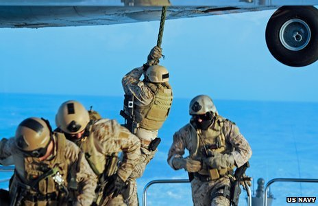 US Navy Seals on operations