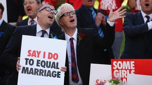 Marrige equity protesters in the UK