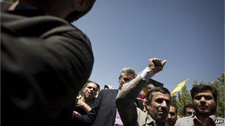 President Ahmadinejad attending 2010 Jerusalem Day rally