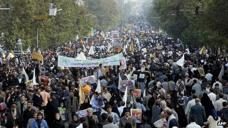 Anti-Israel rally in Tehran (file photo)