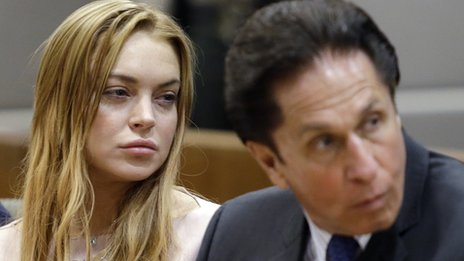 Lindsay Lohan and attorney
