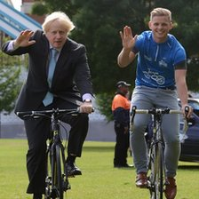 London Mayor Boris Johnson and TV presenter Jeff Brazier launched the RideLondon festival