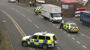 The cyclist was treated at the scene by paramedics
