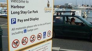 Penzance harbour car park