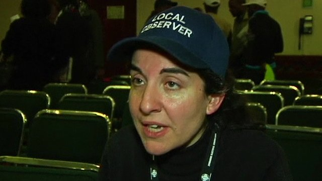 Irene Petras from the Zimbabwe Election Support Network (ZESN)