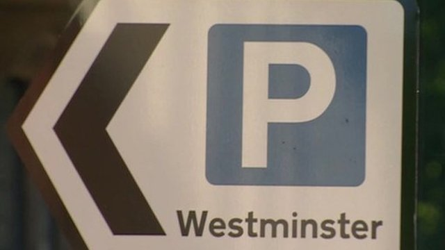 Westminster parking sign