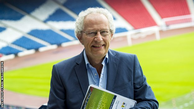 Former First Minister Henry McLeish at Hampden Park