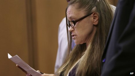 Beth Serrano, sister of Amanda Berry, speaks on behalf of Berry during the sentencing phase for Ariel Castro 1 August 2013
