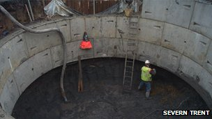 Severn Trent sewage tank