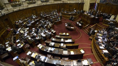 A view of the inside of the House of Representatives during the debate on 31 July 2013