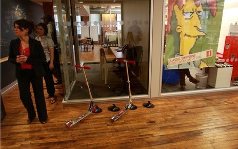 Scooters in Google office