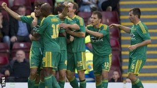 Kuban Krasnodar players celebrating