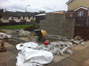 A new IRA memorial is being built in Castlederg