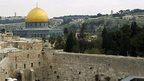 Dome of the Rock/Haram al-Sharif and the Western Wall in Jerusalem