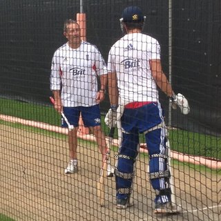 England in the nets