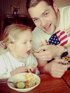 Matthew Wall and his daughter