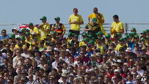 Australians in the crowd at Old Trafford