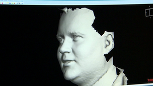 3D image of a man's face