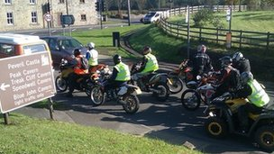 TRF riders in the Peak District