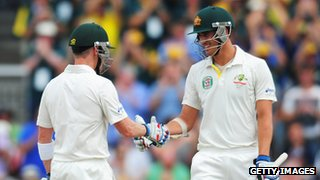 Brad Haddin and Mitchell Starc