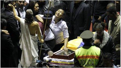 Fan mourns footballer Christian Benitez