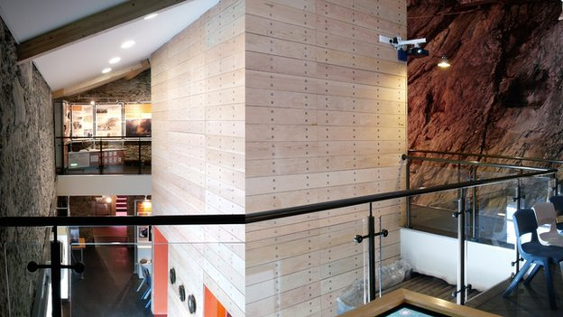 Inside the Copper Kingdom Centre at Amlwch, Anglesey