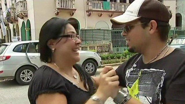 Cuban woman and man