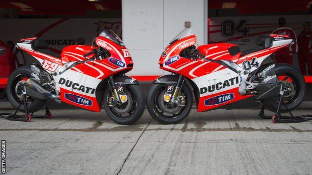 Ducati motorbikes