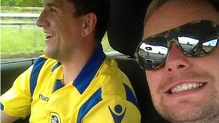 Leeds fan Ryan Cooper and friend