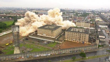 Carandiru jail demolition on 8 December 2002.