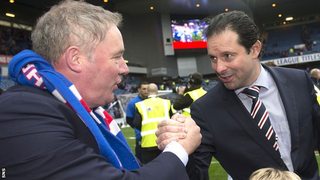 Rangers manager Ally McCoist (left) and chief executive Craig Mather