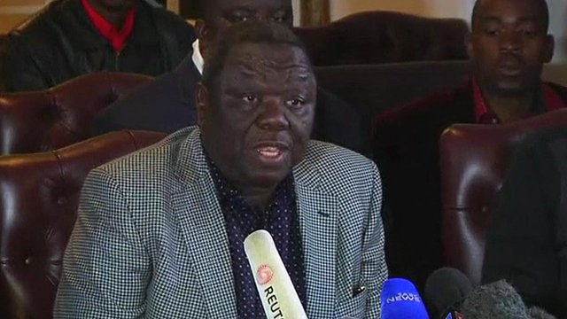 Movement for Democratic Change party leader Morgan Tsvangirai