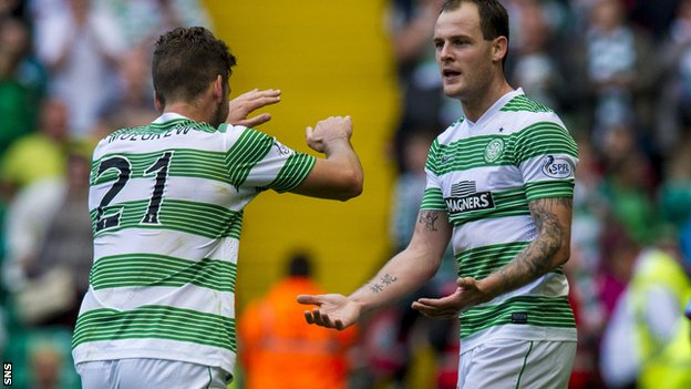 Joe Ledley and Anthony Stokes