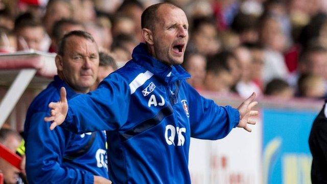 Kilmarnock boss Allan Johnston