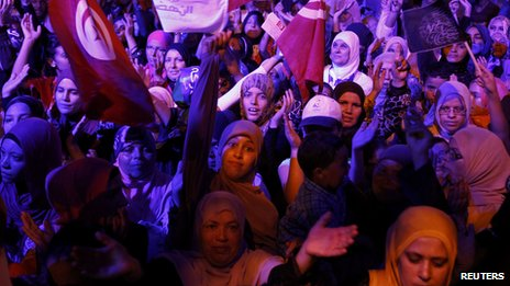 Protesters in Tunis (3 August 2013)
