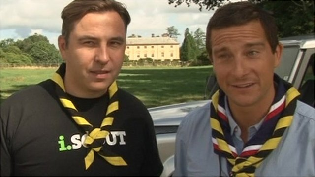 David Walliams and Bear Grylls