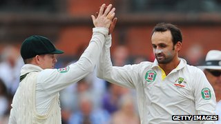 Chris Rogers and Nathan Lyon