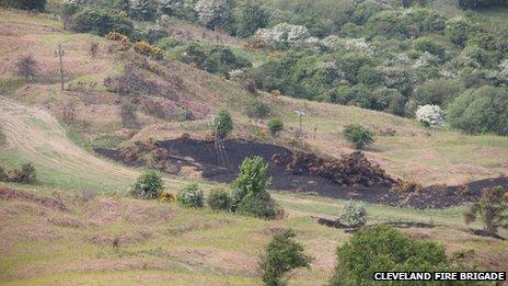 Eston Hills damaged by arsonists
