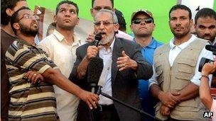 Muslim Brotherhood spiritual leader Mohammed Badie on 5 July 2013